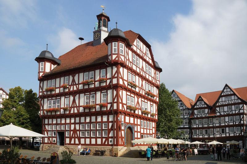 Rathaus in der Stadt Melsungen