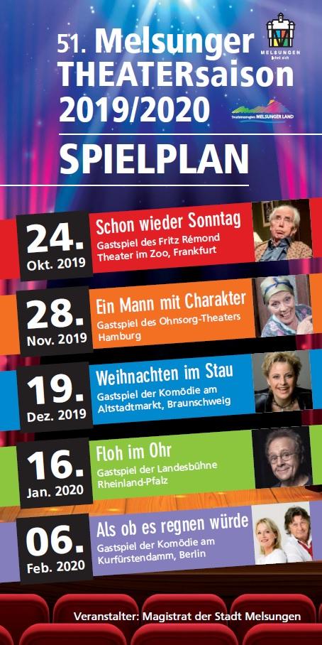 Spielplan der Theatersaison in Melsungen