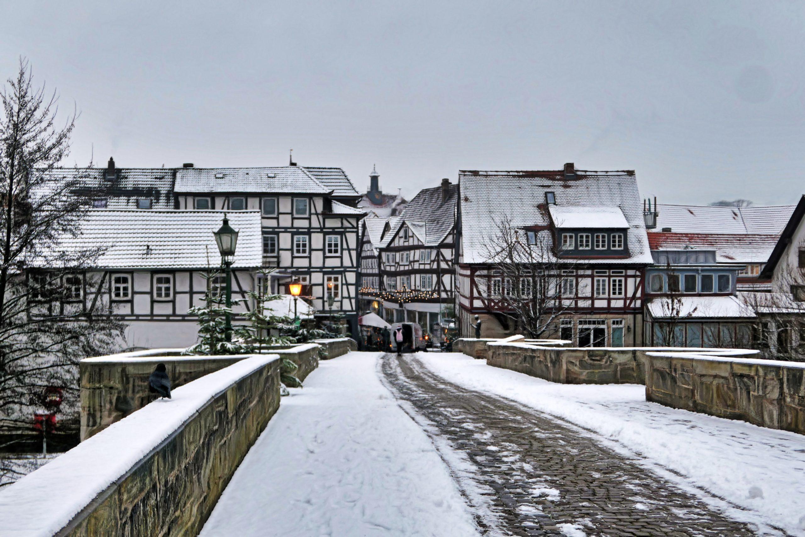 Melsungen im Schnee